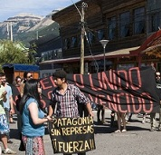 Protest in Coyhaique, Chile, sm