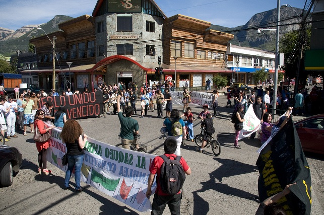 Protest in Coyhaique, Chile.