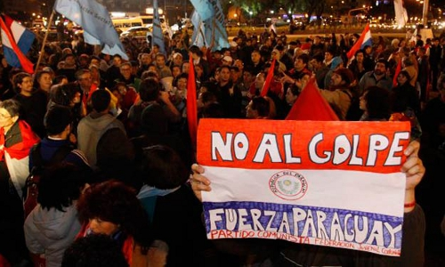Protests following the June 22, 2012 coup d'etat in Paraguay