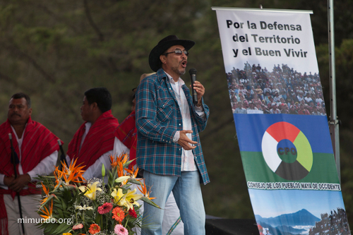 Rubén Herrera, a member of the coordinating body of the Departmental Assembly of Huehuetenango for the Defense of Natural Resources and the Council of Western Peoples. Photo by MiMundo.org