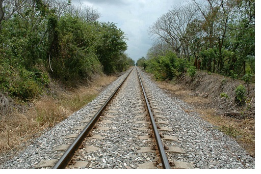Section of the railway tracks where migrants were thrown from the train in Veracruz state on May 1. Photo credit: Dawn Paley