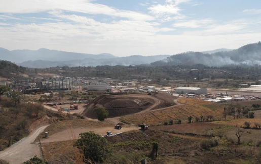 Tahoe Resources' El Escobal silver mining project is under construction in San Rafael Las Flores. Photo credit: C.P.R. Urbana