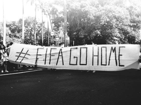 March against the FIFA in Belo Horiozonte. Photo courtesy of CrimethInc.