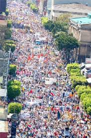 March against CAFTA