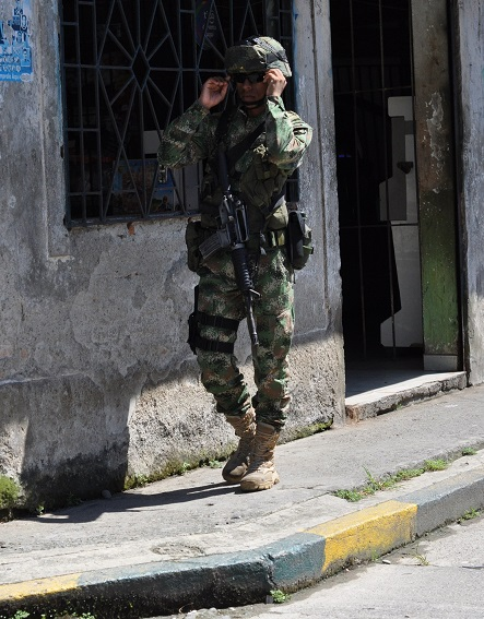 Soldier in Colombia