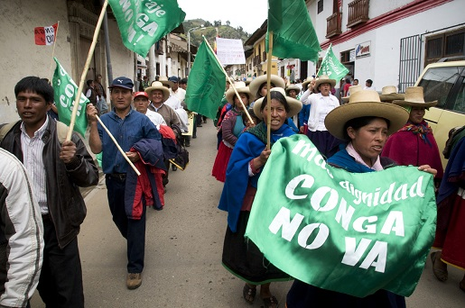 Cajamarca protest against Conga Mine, 2012