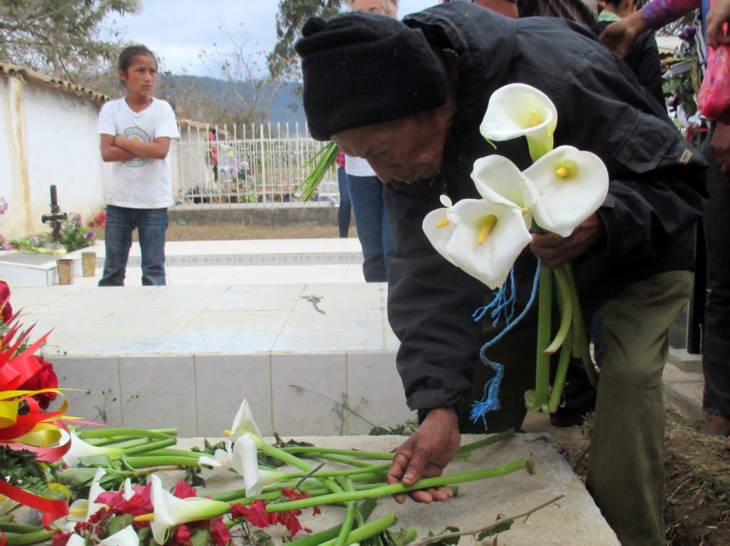 COPINH members and supporters gathered at Berta Cáceres' grave on March 3, 2017.