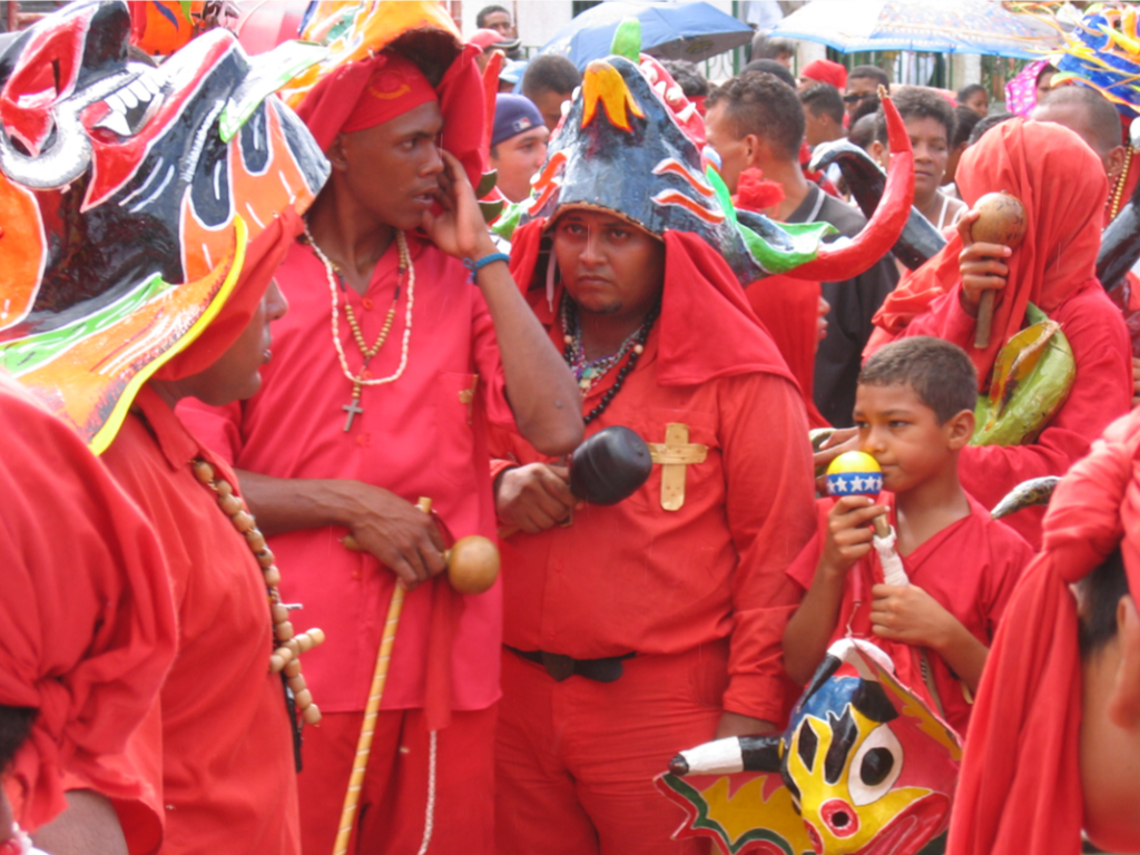 Diablos Danzantes of Yare, Miranda State, June 2004. Photo: Sujatha Fernandes